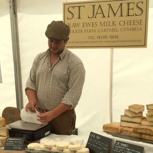 St James Ram Ewes Milk Cheese from Cartmel, Cumbria