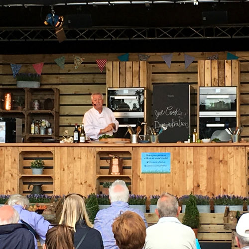 Brian Turner's cookery demo at Countryfile Live